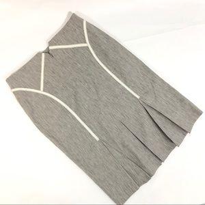 BEBE Pleated Back Straight Pencil Skirt